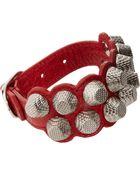 Balenciaga Arena Giant All Stud Two Row Bracelet - Lyst