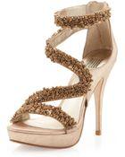 Pelle Moda Friskey Embellished Platform Sandal - Lyst