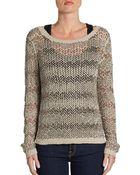 Alice + Olivia Brenna Beaded Cotton Sweater - Lyst
