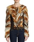 Kelly Wearstler Winstron Fox Fur Jacket - Lyst