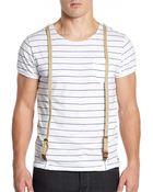 Scotch & Soda Suspender Striped Tee - Lyst
