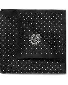 Dolce & Gabbana Dotprint Silk and Cottonblend Satin Pocket Square - Lyst