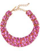 Oscar de la Renta Cabochon Collar Necklace - Lyst