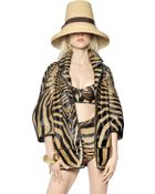 DSquared2 Zebra Printed Ponyskin Coat - Lyst