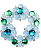 Jones New York Silver-Tone Blue And Green Bauble Cluster Pin - Lyst