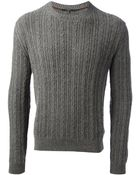 Gucci Cable Knit Sweater - Lyst