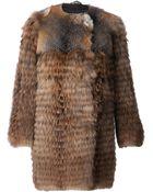 Meteo By Yves Salomon Raccoon Fur Coat - Lyst