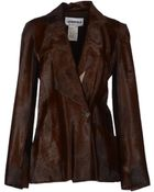 Lagerfeld Leather Outerwear - Lyst