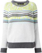 Proenza Schouler Intarsia Knit Sweater - Lyst