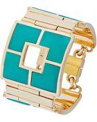 Trina Turk Multi-Color Gemstone Block Bracelet - Lyst