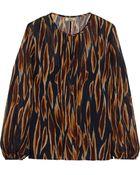 Issa Printed Silk-Chiffon Top - Lyst
