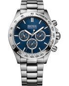 Hugo Boss Men'S Chronograph Stainless Steel Bracelet Watch 44Mm 1512693 - Lyst