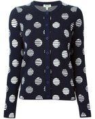 Kenzo 'Dots & Stripes' Cardigan - Lyst