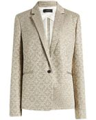 Joseph Jacquard Lame Will Jacket In Gold - Lyst