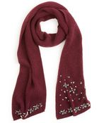 Lauren by Ralph Lauren Jeweled Scarf - Lyst