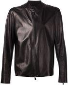 Drome Leather Zip-Up Jacket - Lyst
