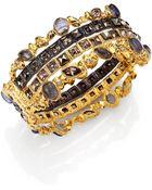 Alexis Bittar Elements Phoenix Labradorite & Crystal Large Stacked Bracelet - Lyst