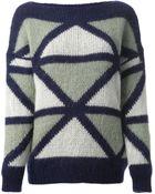 Roberto Collina Geometric Jacquard Sweater - Lyst