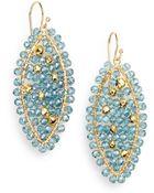 Nunu Blue Quartz & Pyrite Bead Earrings - Lyst