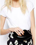 Lulu Guinness Lips Clutch In Black - Lyst