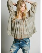 Free People Womens Fp One String Me On Blouse - Lyst