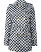 MICHAEL Michael Kors Houndstooth Trench Coat - Lyst