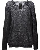 Diesel Sheer Woven Sweater - Lyst