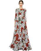Dolce & Gabbana Polka Dot Printed Silk Gauze Dress - Lyst