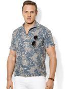 Polo Ralph Lauren Polo Big and Tall Linenblend Classic Camp Shirt - Lyst