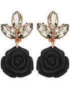 Mawi Rose Noir Crystal Drop Earrings - Lyst