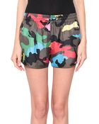 Valentino Psychedelic Camouflage Silk Shorts - Lyst