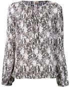 L'Agence Printed Blouse - Lyst