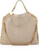 Stella McCartney Falabella Foldover Shoulder Bag Sand - Lyst