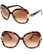 Chloé Brunelle Square Oversized Sunglasses - Lyst