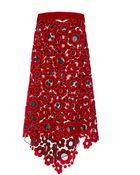 Christopher Kane Daisy Velvet & Organza Skirt - Lyst