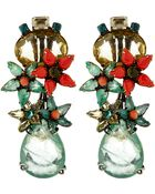 Iradj Moini Green Citrine And Fluorite Drop Earrings - Lyst
