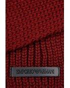 Emporio Armani Wool Scarf - Lyst