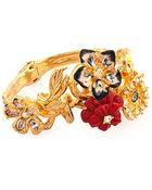 Alexander McQueen Cherry Blossom Swarovski-Crystal Bracelet - Lyst