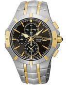 Seiko Mens Stainless Steel Solar Alarm Chronograph Watch - Lyst