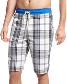 Tommy Hilfiger Clementine Plaid Board Shorts - Lyst