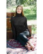 Twenty Tees Knitted Long Sleeve Funnel Neck Top - Lyst