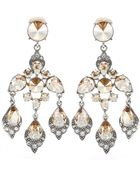 Oscar de la Renta Chandelier Clip-On Earrings - Lyst