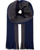 Hugo Boss Herringbone Wool Scarf - Lyst