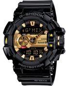 G-Shock Men'S Analog-Digital Bluetooth Black Resin Strap Watch 55X52Mm Gba400-1A9 - Lyst