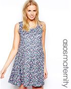 Asos Maternity Exclusive Sleeveless Swing Dress In Floral - Lyst