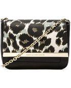 Diane von Furstenberg Leopard-Print Leather Cross-Body Bag - Lyst