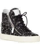 Giuseppe Zanotti Double-Zip Sneakers - Lyst