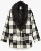 Glamorous Watson Fur Collar Coat - Lyst