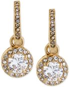 Betsey Johnson Gold-Tone Crystal Circle Drop Earrings - Lyst