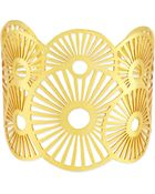 Ashiana 22 Carat Goldplate Cuff Bracelet - Lyst